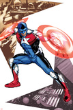 Captain America Corps No.5 Cover: Commander A Croching and Posing Photo by Phil Jimenez