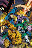 Fantastic Four No.582 Cover: Thing, Mr. Fantastic, and Dr. Doom Running and Charging Prints by Alan Davis