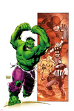 Hulk Smash Avengers No.1 Cover: Hulk Running and Screaming Posters by Lee Weeks