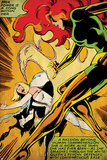 Marvel Comics Retro: X-Men Comic Panel, Phoenix, Emma Frost, Fighting (aged) Photo