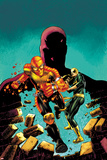 Shadowland: Power Man No.1 Cover: Power Man, Iron Fist, and Daredevil Running Posters by Mike Perkins