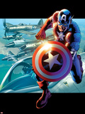 Captain America: Man out of Time No.2 Cover: Captain America Running Posters by Bryan Hitch