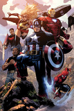 Avengers: The Childrens Crusade No.4: Captain America, Ms. Marvel, Iron Man, Spider-Man and Others Prints by Jim Cheung