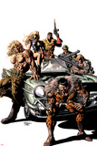 New Avengers No.10 Cover: Kraven the Hunter, Sabretooth, Dominic Fortune, Dum Dum Dugan, and Others Posters by Mike Deodato