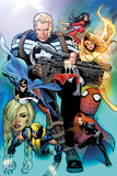 I Am An Avenger No.2 Cover: Steve Rogers, Wolverine, Black Widow, Justice, Firestar, & Spider Woman Prints by Greg Land