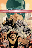 Young X-Men No.3 Cover: Cyclops, Rockslide and Dust Prints by Terry Dodson