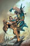 X-Men No.164 Cover: Wolverine and Sabretooth Posters af Salvador Larroca
