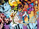 X-Men Archives No.6 Cover: Captain Britain, Crooked Man, James and Jasper Posters par Alan Davis