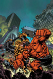 Hulk No.37 Cover: Red Hulk and Thing Fighting Posters by Carlo Pagulayan