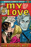 Marvel Comics Retro: My Love Comic Book Cover No.20, Kissing, When Strangers meet! (aged) Bilder