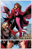 Avengers: The Childrens Crusade No.6: Panels with Scarlet Witch and Wiccan Flying and Hugging Photo by Jim Cheung