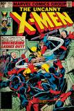 Marvel Comics Retro: The X-Men Comic Book Cover No.133, Wolverine Lashes Out (aged) Fotografie