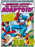 Marvel Comics Retro: Captain America Comic Panel, The Inconceivable Adaptoid! with Bucky Posters