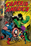 Marvel Comics Retro: Captain America Comic Book Cover No.110, with the Hulk and Bucky (aged) Prints