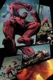 Hulk No.36: Panels with Red Hulk Jumping Print by Patrick Zircher