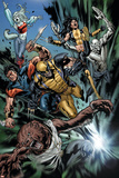 Uncanny X-Men No.493 Group: Wolfsbane, Wolverine, X-23, Warpath, Hepsibah and Caliban Print by Billy Tan