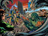 Ultimate X-Men Annual No.1 Group: Wolverine, Jubilee, Storm, Colossus, Iceman and Cyclops Prints by Tom Raney