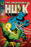 Marvel Comics Retro: The Incredible Hulk Comic Book Cover No.110, with Umbu the Unliving (aged) Print