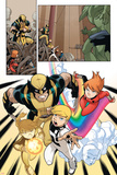 Wolverine And Power Pack No.1 Group: Wolverine, Zero-G, Mass Master, Lightspeed and Energizer Print by  Gurihiru