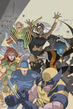 Uncanny X-Men: First Class No.4 Cover: Wolverine, Cyclops, Phoenix, Storm and Nightcrawler Poster par Roger Cruz