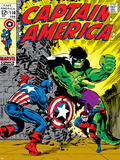 Marvel Comics Retro: Captain America Comic Book Cover No.110, with the Hulk and Bucky Photo