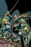 Avengers No.16 Cover: Captain America and Master Man Fighting Poster par Alan Davis