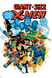 Giant-Size X-Men No.3 Cover: Wolverine, Cyclops, Nightcrawler and Sunfire Charging Plakaty autor Dave Cockrum