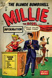 Marvel Comics Retro: Millie the Model Comic Book Cover No.53, Fashion Show Information Booth (aged) Prints