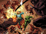 New Avengers No.5: Dr. Strange and Wong Fighting Posters by Stuart Immonen