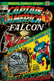 Marvel Comics Retro: Captain America Comic Book Cover No.178, with the Falcon (aged) Posters