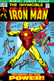 Marvel Comics Retro: The Invincible Iron Man Comic Book Cover No.47, Breaking Through Chains Prints