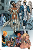 X-Men: Manifest Destiny No.2 Group: Storm, Angel and Emma Frost Print by Michael Ryan