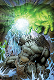 Incredible Hulk No.611 Cover: Skaar and Hulk Fighting and Smashing Poster by Paul Pelletier