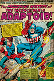 Marvel Comics Retro: Captain America Comic Panel, The Inconceivable Adaptoid! with Bucky (aged) Plakater