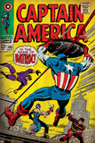 Marvel Comics Retro: Captain America Comic Book Cover No.105, Batroc (aged) Poster