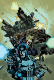 Ultimate Avengers 2 No.6 Cover: Punisher, Hawkeye, Black Widow, Tyrone Cash and War Machine Posters by Leinil Francis Yu