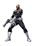 Nick Fury with a Gun Prints