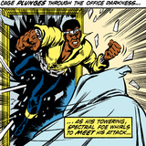 Marvel Comics Retro: Luke Cage, Hero for Hire Comic Panel Photo