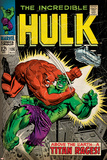 Marvel Comics Retro: The Incredible Hulk Comic Book Cover No.106, Titan Rages (aged) Posters