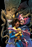 X-Men: The End V2 N4 Cover: Brood, Deathbird, Reyes and Cecelia Print by Chris Claremont