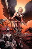 Ultimate New Ultimates No.4: Valkyrie and Hela Standing Planscher av Frank Cho