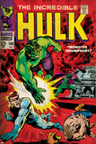 Marvel Comics Retro: The Incredible Hulk Comic Book Cover No.108, with Nick Fury (aged) Prints