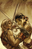 Thor Son Of Asgard No.7 Cover: Sif and Thor Prints