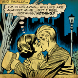 Marvel Comics Retro: Love Comic Panel, Kissing in the Park (aged) Poster