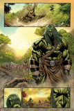 Skaar: King of The Savage Land No.3: Skaar Walking Prints by Brian Ching