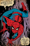 Marvel Comics Retro: The Amazing Spider-Man Comic Panel, Crawling (aged) Posters
