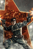 Winter Soldier No.1 Cover with Captain America Poster by Lee Bermejo