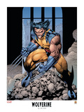 Wolverine Lithograph: Wolverine Posters af Jim Lee