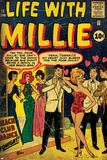 Marvel Comics Retro: Life with Millie Comic Book Cover No.13, Bathing Suit, Beach Club Dance (aged) Posters