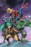 Avengers & The Infinity Gauntlet No.3 Cover: Wolverine, Dr. Doom, Hulk, Spider-Man, and Ms. Marvel Poster by Tom Grummett